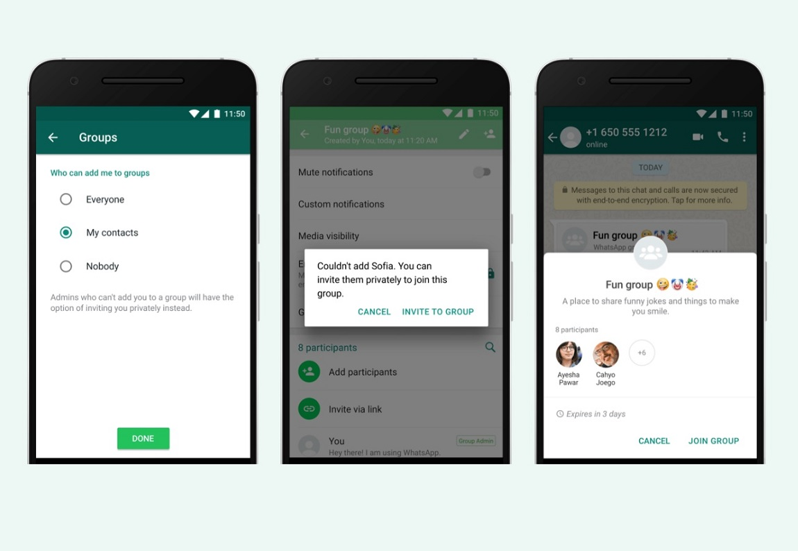 Whatsapp finally introduces a way to stop people from adding your to their spammy groups