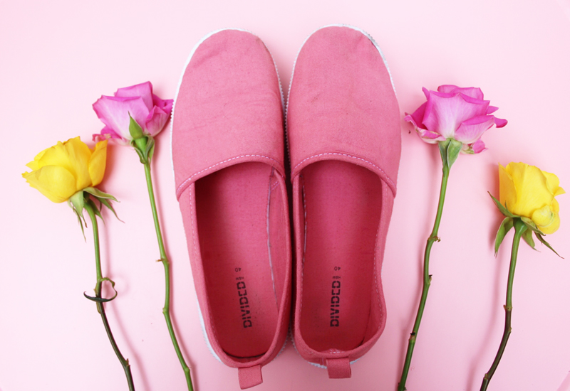 dylon DIY pastel shoes