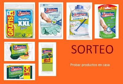 Sorteo lote de productos de limpieza Spontex