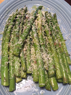 blanched asparagus with parmesan cheese