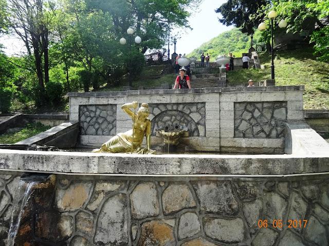 Курортный парк Железноводска. Каскадная лестница