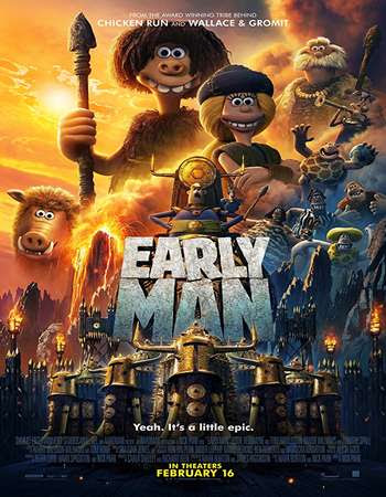 Poster Of English Movie Early Man 2018 Full HDCam Movie Free Download Watch Online