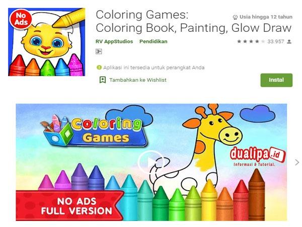 Game Pengetahuan Untuk Anak Terbaik Coloring Games
