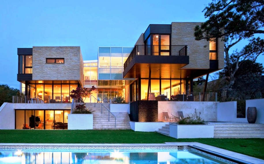 Model Rumah Mewah 2 Lantai dengan Kolam Renang