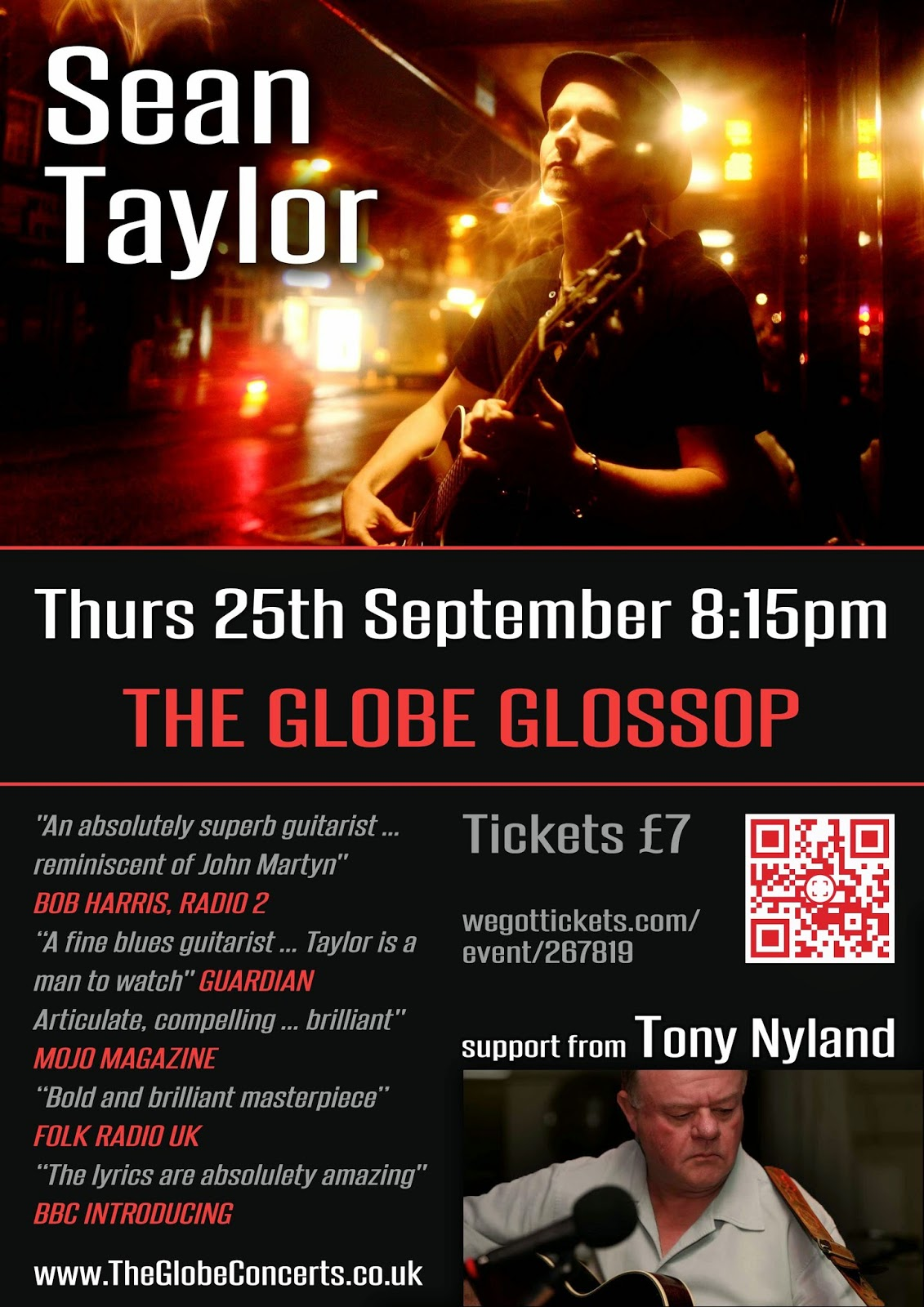 Sean Taylor at The Globe Glossop