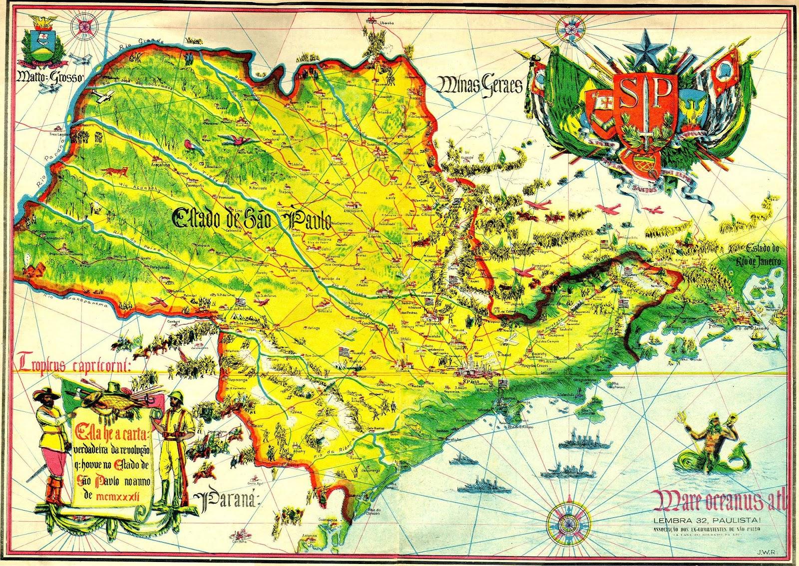 Mapas dos Estado de São Paulo