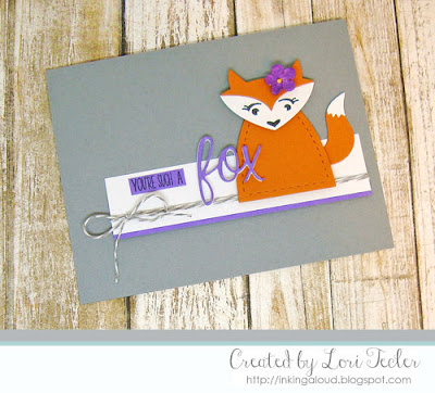 You're Such a Fox card-designed by Lori Tecler/Inking Aloud-stamps and dies from Lil' Inker Designs
