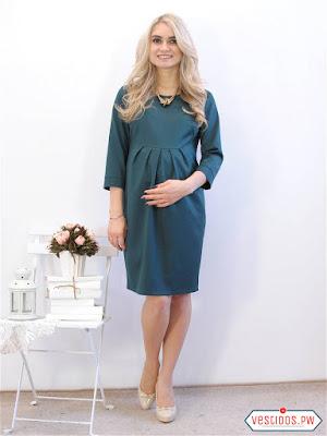 vestidos para embarazadas color vino
