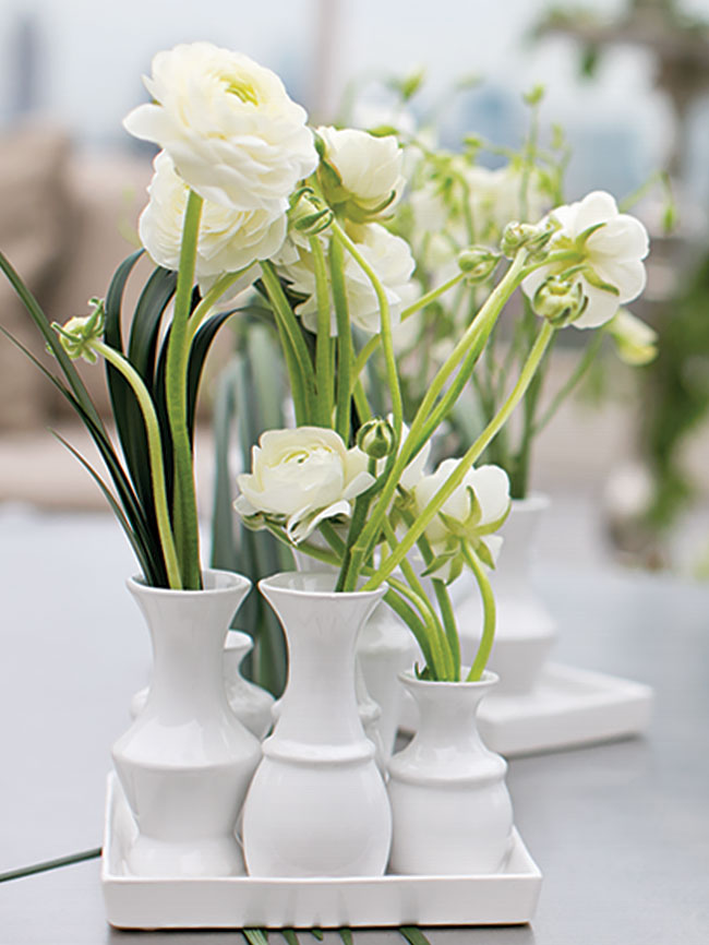 Modern, white-on-white chic vase - wholesale from Accent Decor
