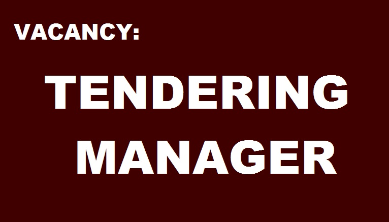 Tendering Manager ($1,500 - $2,800 USD)