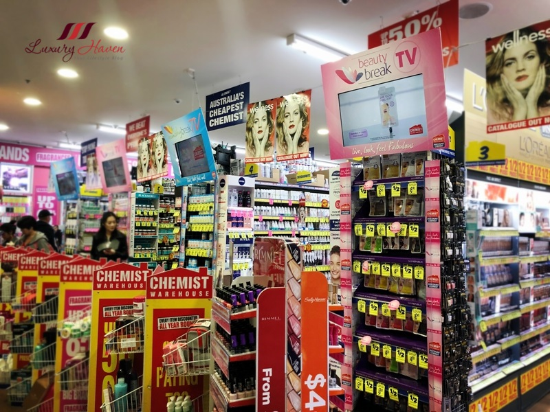 australia cheapest chemist warehouse beauty products