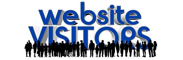 people as visitors on website