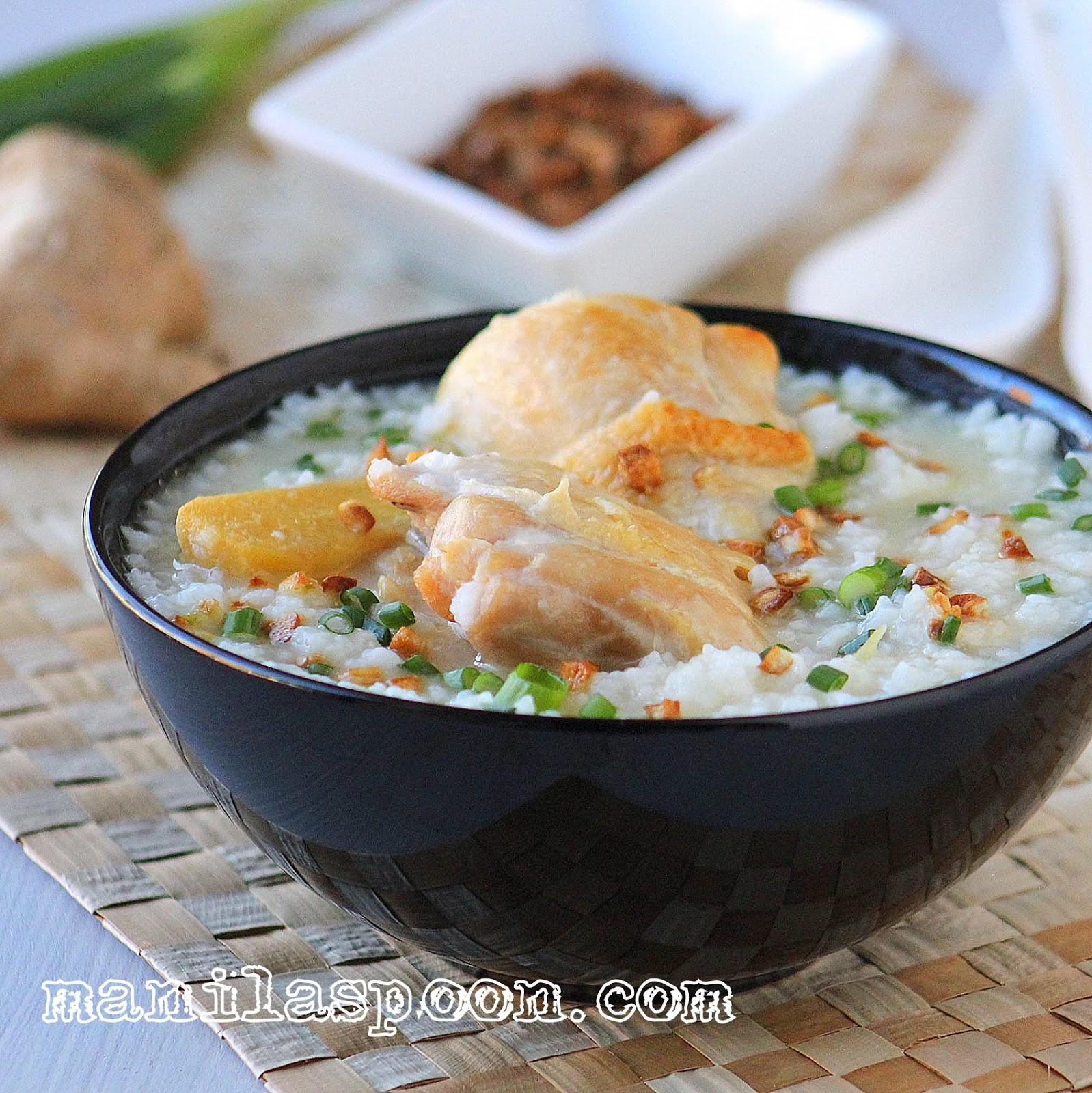 Arroz Caldo (Savory Chicken and Rice Porridge)