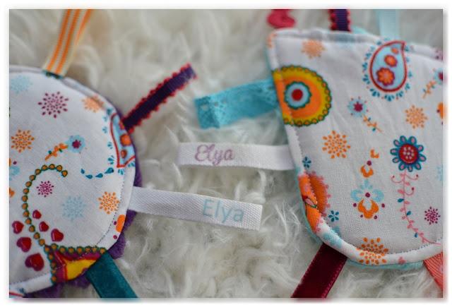 rubans personnalisés prénom de l'enfant Elya