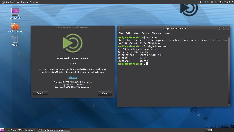 Install MATE Desktop 1 22 on Ubuntu 18 04 'Bionic Beaver