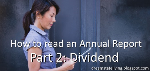 woman readon on a tablet. how to read an annual report the dividend perspective