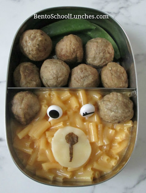 Meatballs, macaroni & cheese sent warm for school lunch