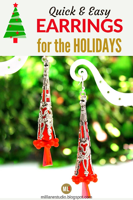 Slender Christmas Tree Earrings Inspiration Sheet
