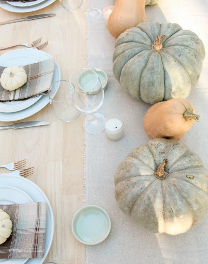 mesa otoño con calabazas ayudaadecorar.blogspot.com.es