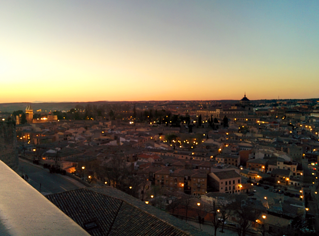 Toledo vista atardecer Tavera