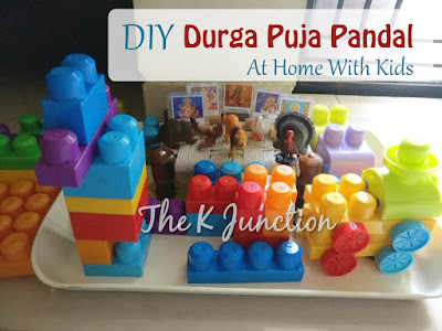 durga puja pandal diy kids children preschooler navratri bengali mythology India