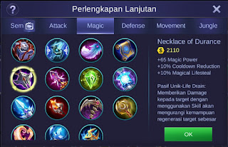 Build Item Angela Mobile Legends Terbaik dan Terbaru 2019
