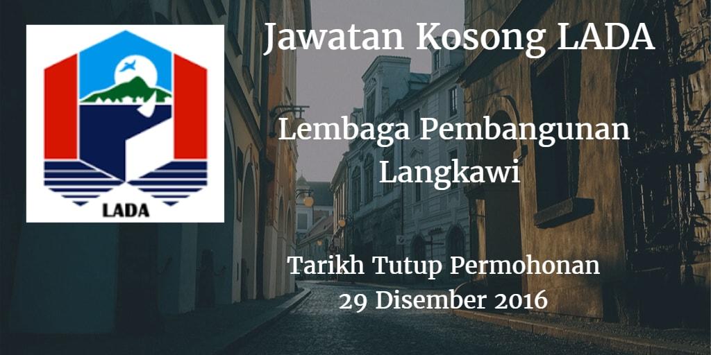 Jawatan Kosong LADA 29 Disember 2016