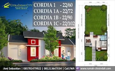 Denah dan Model rumah Cordia 1 Citra Indah City