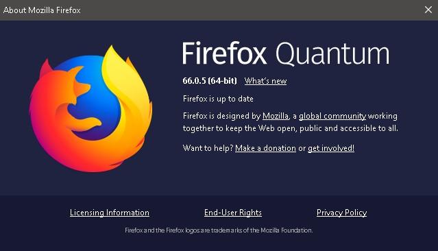 تحميل متصفح Mozilla Firefox Quantum باخر أصدار 66.0.5