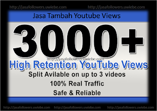 Jasa Tambah 3000 Youtube Views