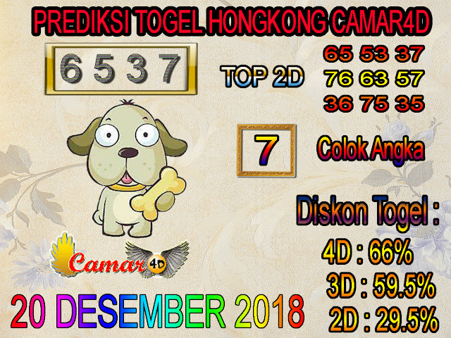 Prediksi Togel Hongkong 20 Desember 2018
