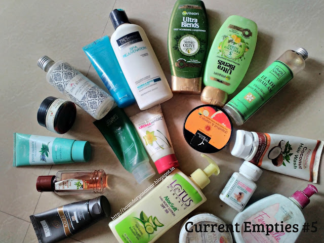 Skin Care Empties, Hair Care Empties, Body Care Empties, Wellness empties