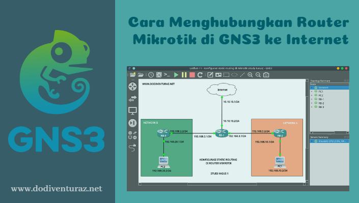 Tutorial Cara Menghubungkan Router Mikrotik di GNS3 ke