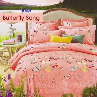 Butterfly Song pink bahan star