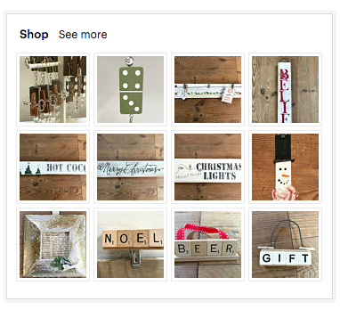 Homeroad Etsy for rustic hand-made signs and ornaments