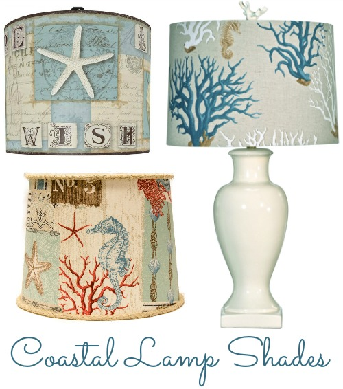 Coastal Beach + Nautical Lamp Shades
