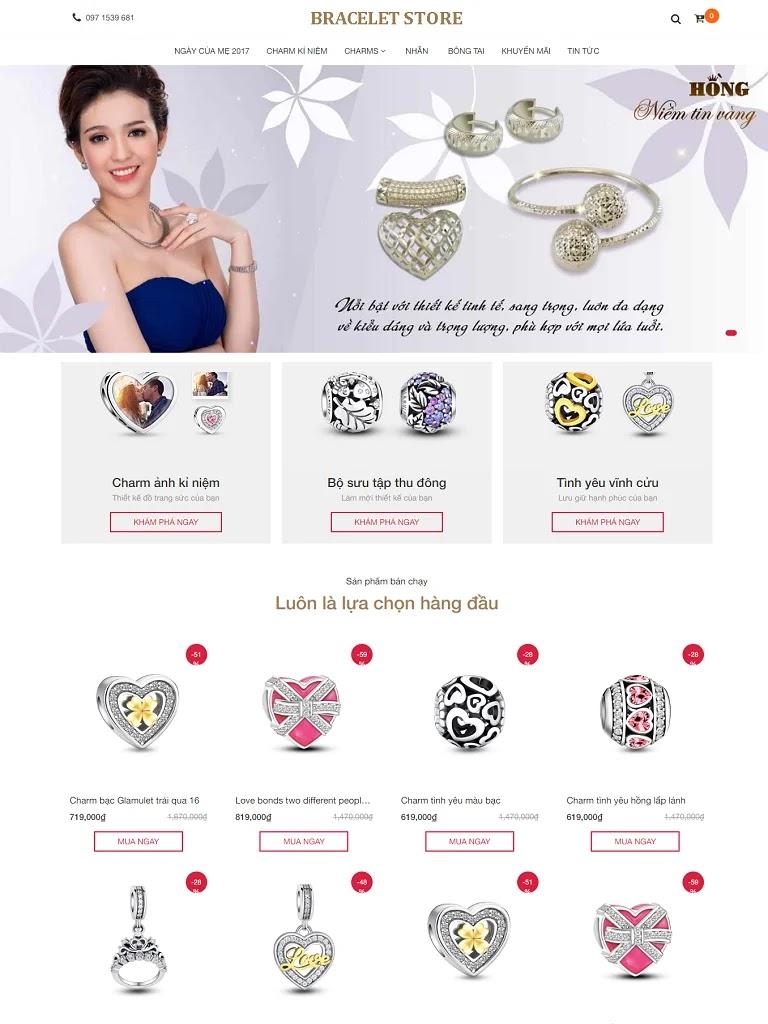 Template blogspot shop bán hàng trang sức quà tặng - Ảnh 1