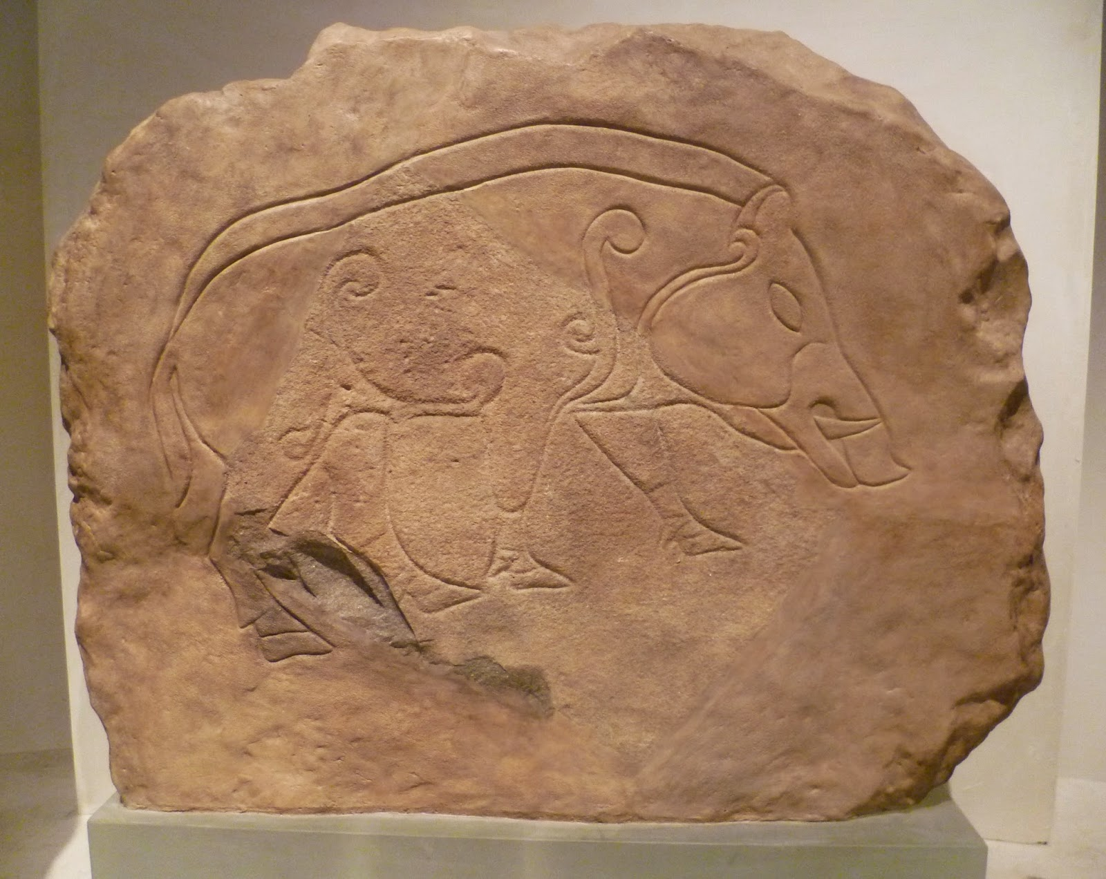 Kim Traynor photo Dores Stone Pictish Boar