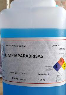 Producto antipañante para la limpieza de parabrisas de automóviles