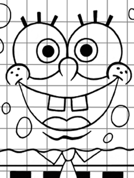 Grid Coloring Worksheets Sketch Coloring Page