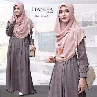 Gamis Yasmeera Hanifa Dress Dark Mocca