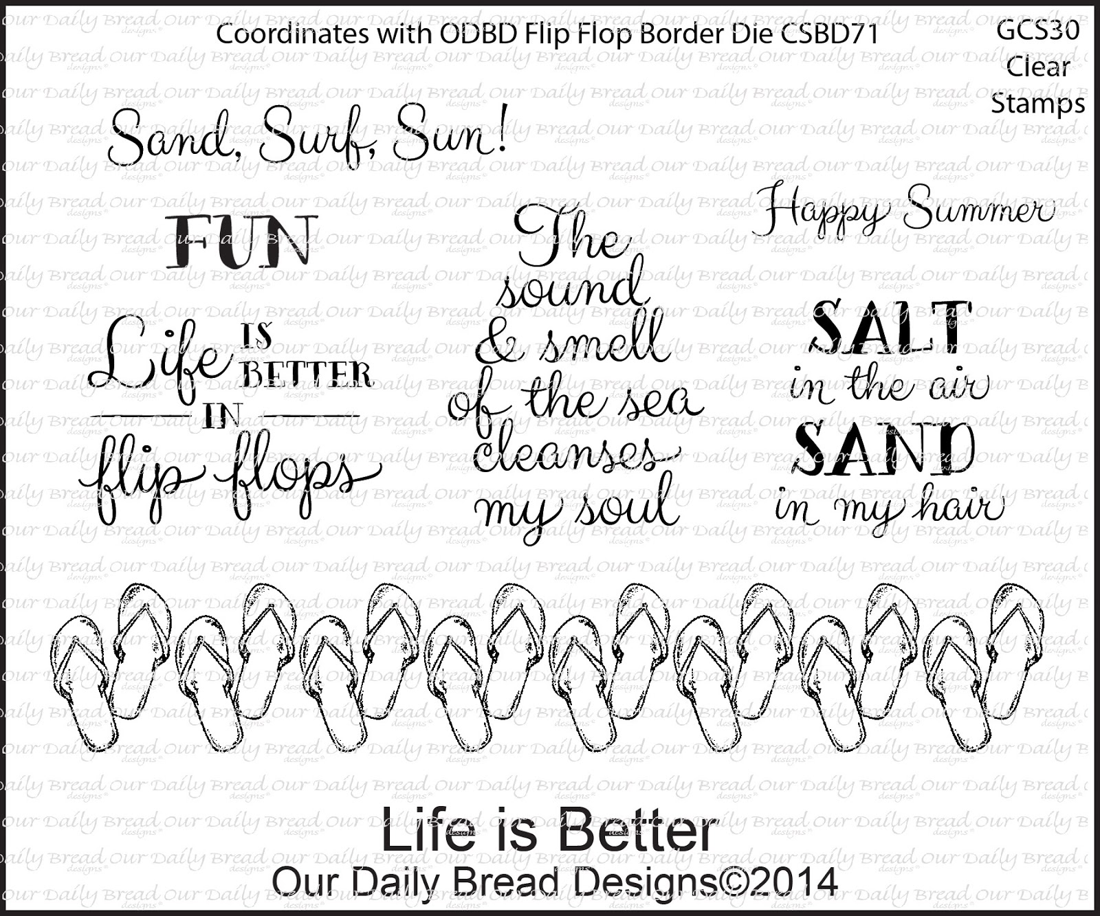 Stamps - Our Daily Bread Designs Life is Better