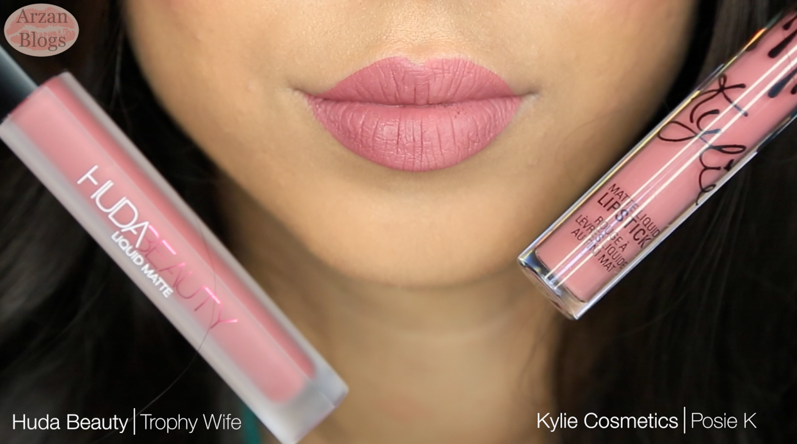 Beauty Kylie Lipstick Vs Huda Lipsticks Cosmetics Candy K Both Of These Shades Appear Similar On The Lips Except Posie Is A Bit Lighter Than Trophy Wife
