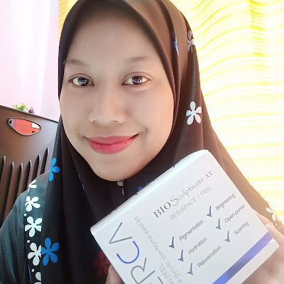 REVIEW DERCA AHA SKIN PEEL Natural Glycolic Skin Home Peel Kit