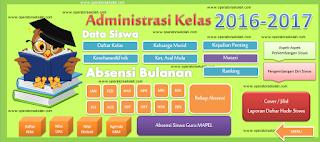 Aplikasi Administrasi Guru Tahun 2016/2017 Berbasis Excel Lengkap
