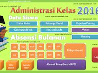 Aplikasi Administrasi Guru Kelas Lengkap dalam Format Excel