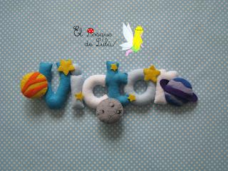 nombre-fieltro-Victor-elbosquedelulu-planetas-elprincipito-decoración-infantil-felt-name-banner-feltro