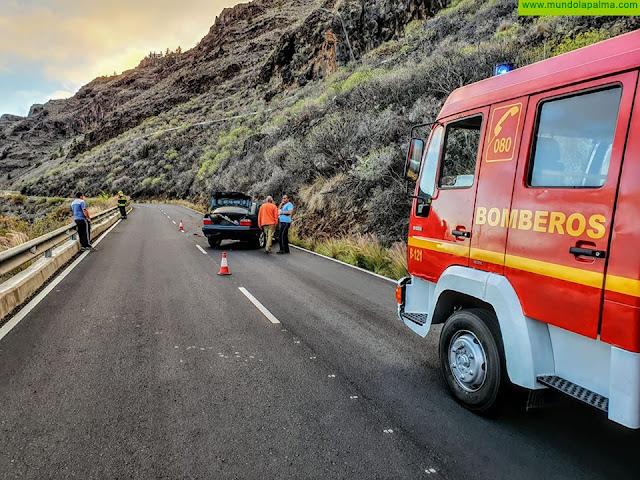 Accidente ayer de un vehículo en El Time