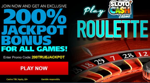 Roulette Bonus from Sloto Cash Casino