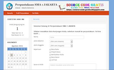 Download Gratis Source Code Aplikasi Perpustakaan Sekolah Berbasis Web PHP & MySQL